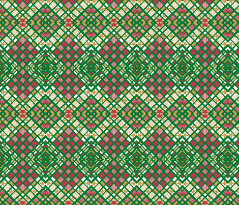 Diamond Plaid Xmas fabric by tallulahdahling on Spoonflower - custom fabric