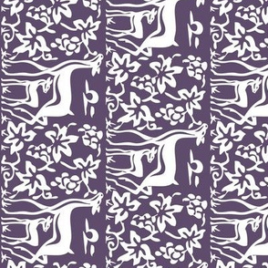 Deer & grapes close vector - VIOLET275 linen teatowel or cafe curtain