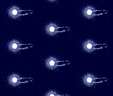 Moon Mystery fabric by krussimages on Spoonflower - custom fabric