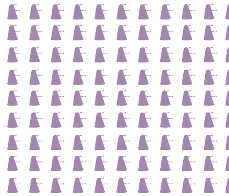 Multi_Dalek_Rhapsody_purple fabric by morrigoon on Spoonflower - custom fabric