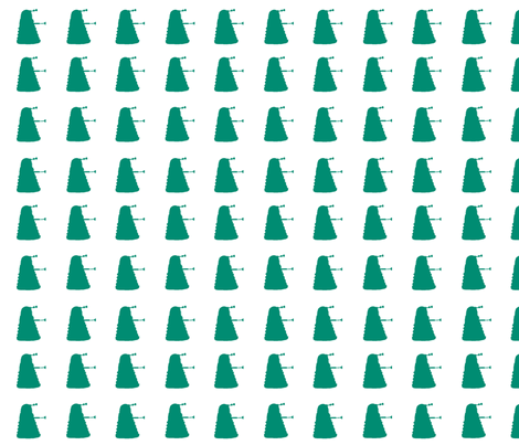 Multi_Dalek_Teal fabric by morrigoon on Spoonflower - custom fabric