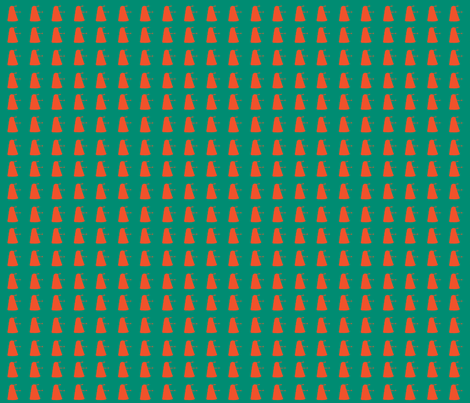 Mass Extermination teal and orange fabric by morrigoon on Spoonflower - custom fabric