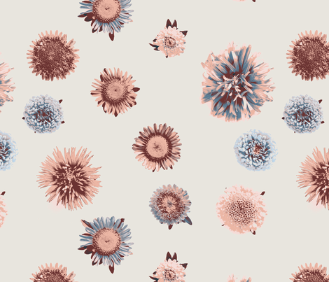 vintage faded flowers fabric by ravynka on Spoonflower - custom fabric