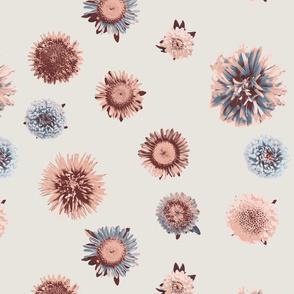 vintage faded flowers