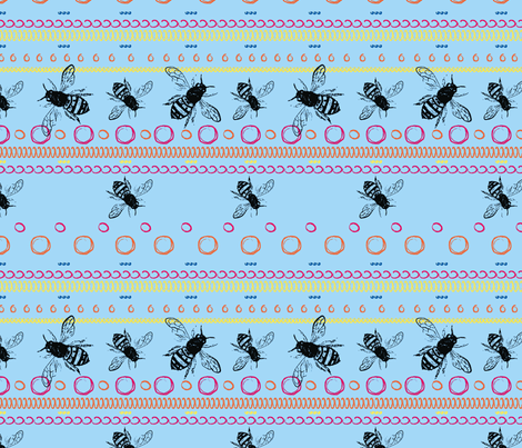 Bee Spots Bright fabric by hollypicthall on Spoonflower - custom fabric