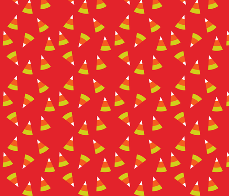 Trick Or Treat Candy Corn fabric by heidikenney on Spoonflower - custom fabric