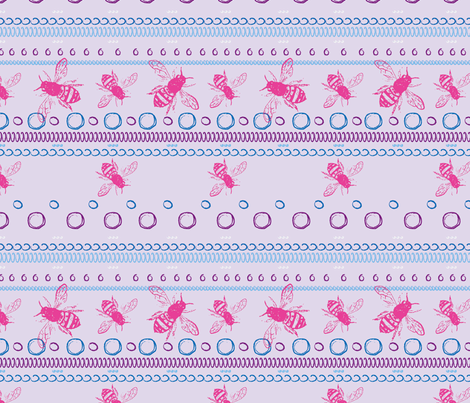 beespotspink fabric by hollypicthall on Spoonflower - custom fabric
