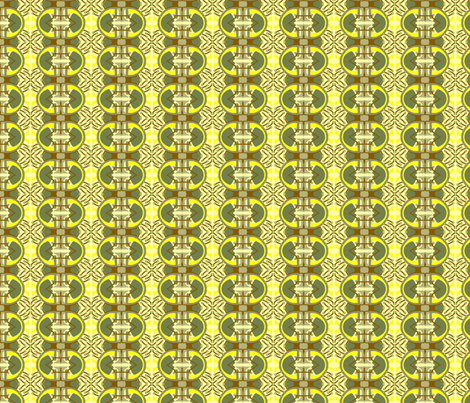 Green and Yellow Abstract fabric by robin_rice on Spoonflower - custom fabric