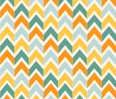 Citrus Chevrons fabric by beththompsonart on Spoonflower - custom fabric