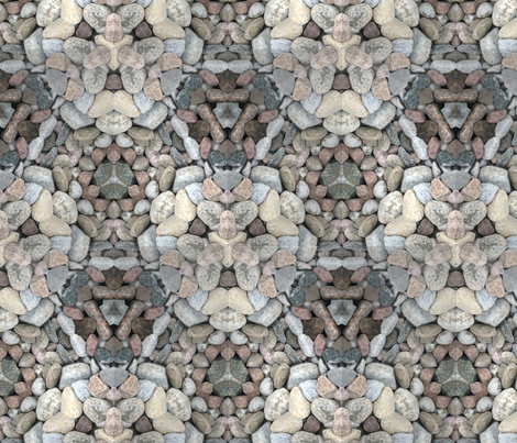 River Stone Kaleidoscope fabric by the_fretful_porpentine on Spoonflower - custom fabric