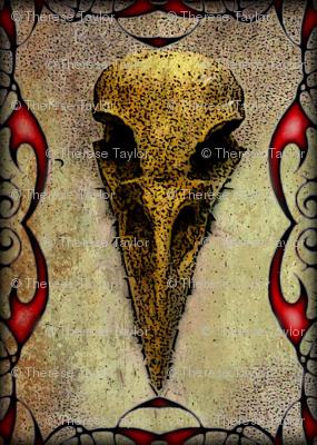 Raven Skull Gothic Halloween
