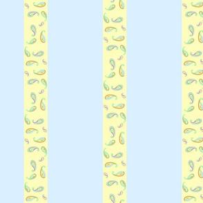 pastel paisleys blue stripes
