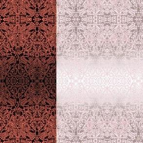 Ornate cerise burgundy gradient