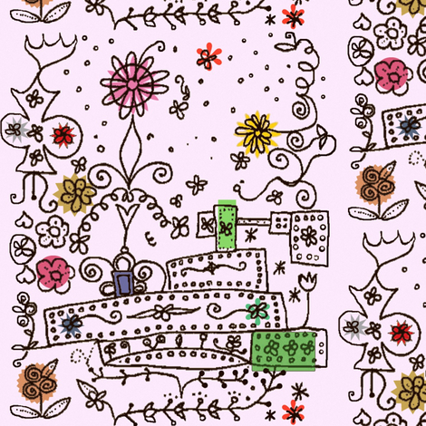 Folk Flower Boxes fabric by boris_thumbkin on Spoonflower - custom fabric