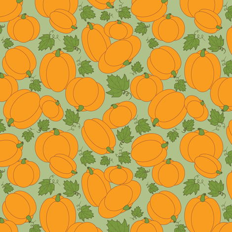 Pumpkin Patch fabric by jjtrends on Spoonflower - custom fabric
