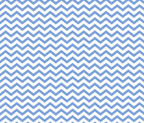chevron cornflower blue and white fabric by misstiina on Spoonflower - custom fabric