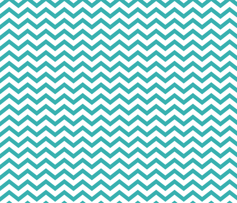 chevron teal fabric by misstiina on Spoonflower - custom fabric
