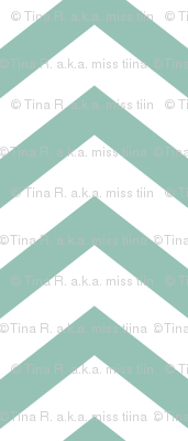 chevron faded teal and white