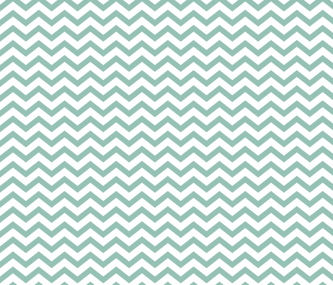 chevron faded teal and white fabric by misstiina on Spoonflower - custom fabric