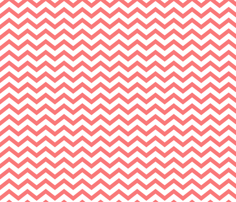 chevron coral and white fabric by misstiina on Spoonflower - custom fabric