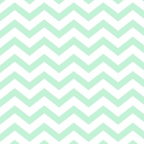 chevron ice mint green