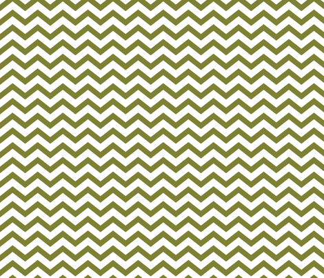 chevron olive green and white fabric by misstiina on Spoonflower - custom fabric