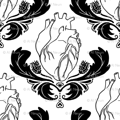 Hearts & Thistles White/Black