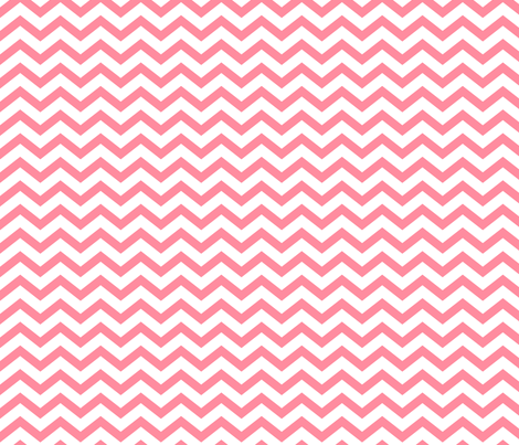 chevron pretty pink and white fabric by misstiina on Spoonflower - custom fabric