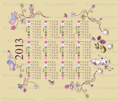 LaraGeorgine_2013-Tea-Birds-Calendar