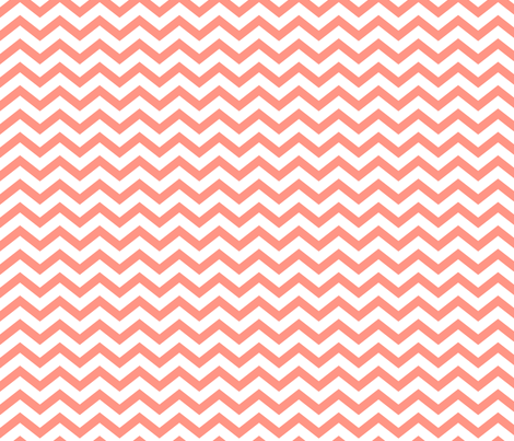 chevron peach fabric by misstiina on Spoonflower - custom fabric