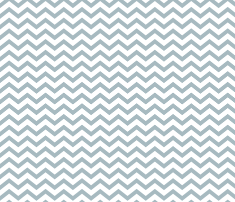 chevron slate blue and white fabric by misstiina on Spoonflower - custom fabric