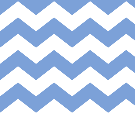 chevron lg cornflower blue and white