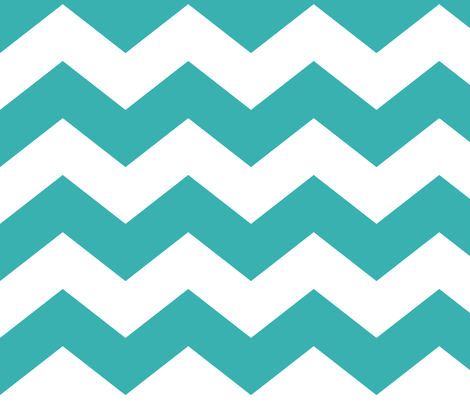 chevron lg teal fabric by misstiina on Spoonflower - custom fabric