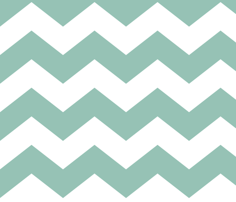 chevron lg faded teal and white fabric by misstiina on Spoonflower - custom fabric