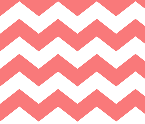 chevron lg coral and white fabric by misstiina on Spoonflower - custom fabric