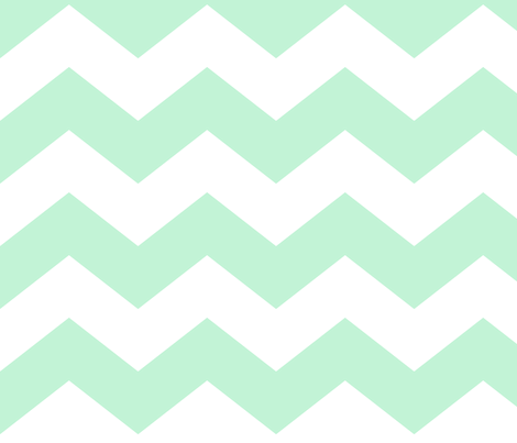 chevron lg ice mint green fabric by misstiina on Spoonflower - custom fabric