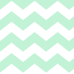 chevron lg ice mint green