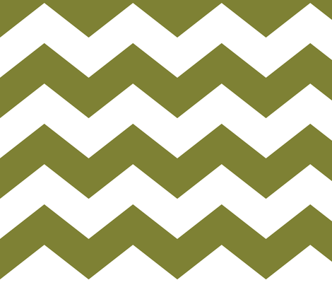chevron lg olive green and white fabric by misstiina on Spoonflower - custom fabric