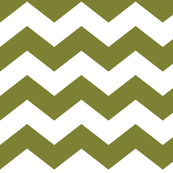 chevron lg olive green and white
