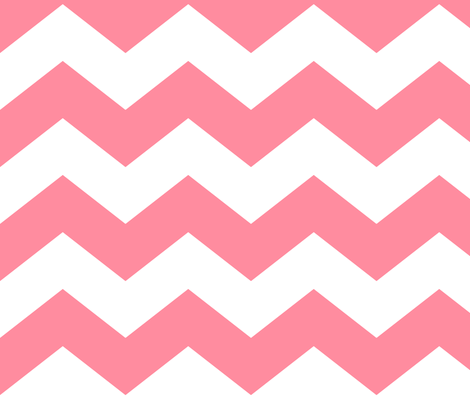 chevron lg pretty pink and white fabric by misstiina on Spoonflower - custom fabric
