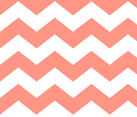 chevron lg peach fabric by misstiina on Spoonflower - custom fabric