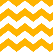 chevron lg pumpkin orange and white