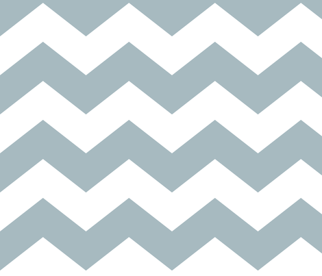 chevron lg slate blue and white fabric by misstiina on Spoonflower - custom fabric