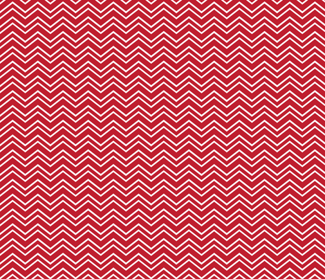chevron no2 red and white fabric by misstiina on Spoonflower - custom fabric