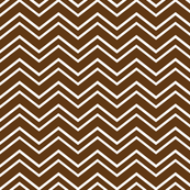 chevron no2 brown and white