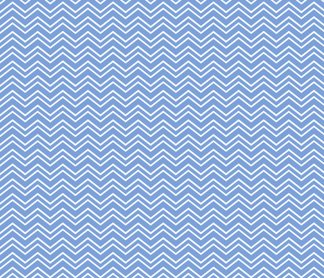 chevron no2 cornflower blue and white