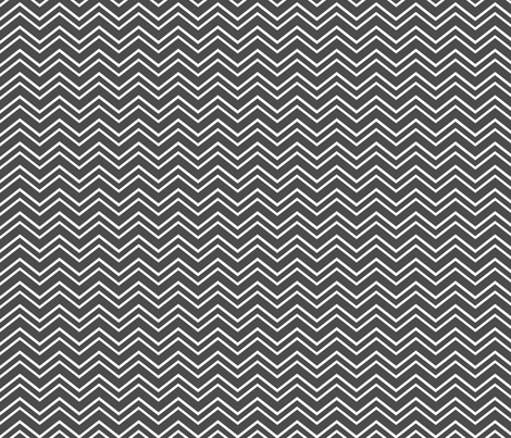 chevron no2 dark grey and white fabric by misstiina on Spoonflower - custom fabric