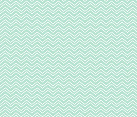 Chevron no2 mint green and white fabric by misstiina on spoonflower