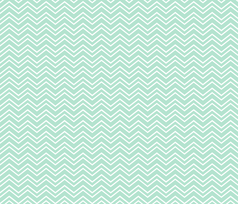 chevron no2 mint green and white