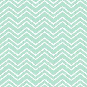 chevron no2 mint green